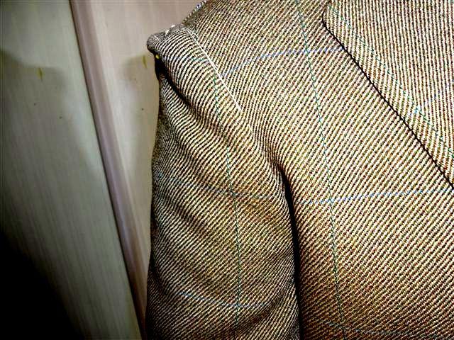ジャケット袖のしわ補整②kai